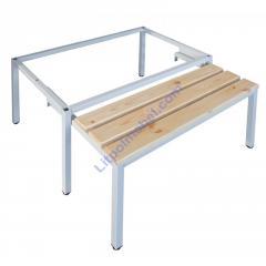 Выдвижная скамейка-подставка под одежный шкаф 600