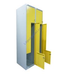 Гардеробный металлический шкаф - локер с Г-образными дверями Sul 42