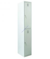 Ячеечный шкаф для камер хранения на 2 отделения Sus 312