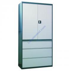 Металлический шкаф для документов с картотечной тумбой Skb 3