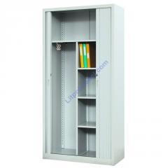 Металлический офисный шкаф для документов и одежды с дверями типа жалюзи Sbm 218