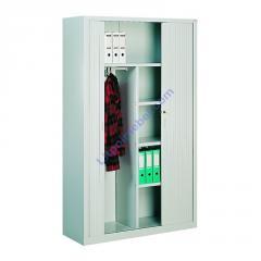 Металлический офисный шкаф для документов и одежды с дверями типа жалюзи Sbm 219
