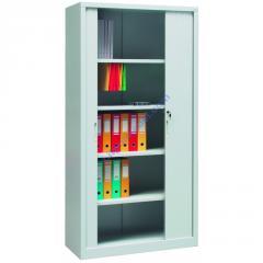 Металлический офисный шкаф с дверями типа жалюзи Sbm 208