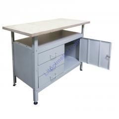 Металлический стол - верстак для мастерской Stw 122