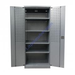 Инструментальный металлический шкаф с перфорацией