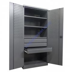Инструментальный металлический шкаф с ящиками Swm