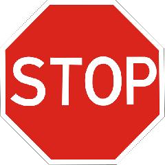 Знак приоритета Движение без остановки запрещено