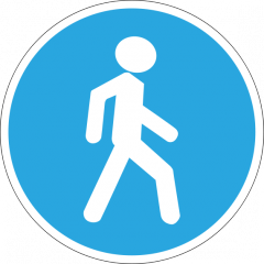 Предписывающий знак «Пешеходная дорожка» 4.5
