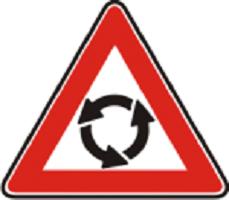 Знак предупреждающий Пересечение с круговым