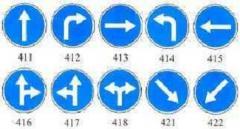 Предписывающий знак Обязательное направление