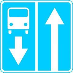 Информационный знак Дорога с полосой для