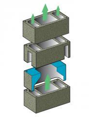 Компонент Componente prefabricate pentru mine de ventilatie