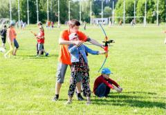 Подарочная карта  Обучение стрельбе из лука детей