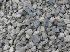 Limy crushed stone.