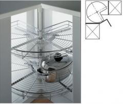 Корзина угловая 3/4 для кухонных ящиков