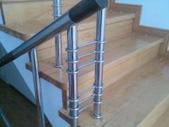 Handrail from a stainless steel