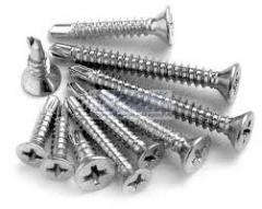 Self-tapping screws for a metal tile