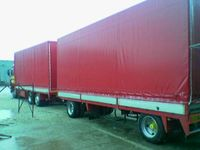 Eurotents and frameworks on trucks and trailers