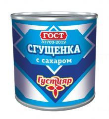 Молоко сгущенное Густиар ж/б 380г