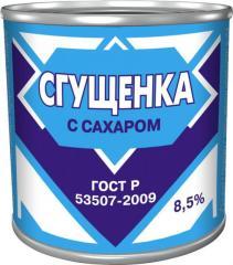 Сгущенка 8, 5% (370гр) ж/б Gos
