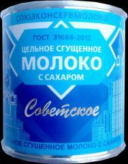 Молоко сгущенное ,  ж/б (380 гр),  Советское