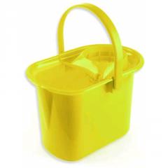 Ведро с отжимом 14л, желтый цвет