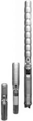 Submersible pump from stainless steel, multistage
