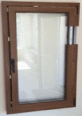 Пластиковые окна орех