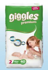 Giggles diaper Premium Mini 3-6 Kg 40 Pieces