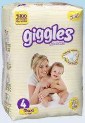 Подгузники Giggles стандартная упаковка Макси 7-18