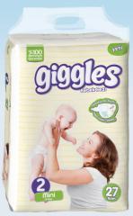 Подгузники Giggles Eco упаковка Мини 3-6 Кг 27 число
