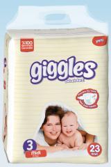 Подгузники Giggles Eco упаковка Миди 5-9 Кг 23 число