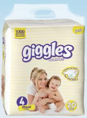 Подгузники Giggles Eco упаковка Макси 7-18 Кг 20 число