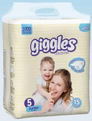Подгузники Giggles Eco упаковка Jonior 11-25 Кг 15 число