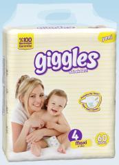 Подгузники Giggles Jumbo упаковка Макси 7-18 Кг 60 число