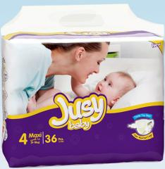 Jusy Twin Verpackung Maxi Windeln 9-18 Kg 36 Stück