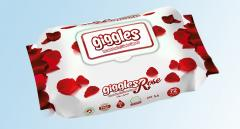 Влажные салфетки Giggles Rose Perfumed Wet Towel 72 pcs