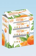 Влажные салфетки Giggles Mandarin Perfumed Wet Towel 72 pcs x 3