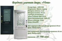 Входная дверь уличная дверь Vena