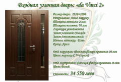 Входная дверь уличная дверь da Vinci 2