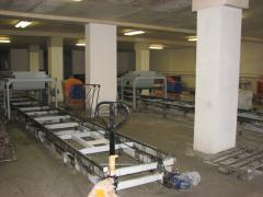 Lines for the production of sandwich panels