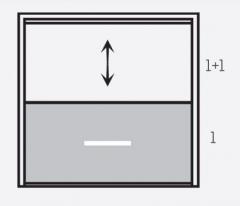 Оконная система Панорама панели 1+1