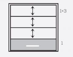 Оконная система Панорама панели 1+3