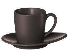Чашка эспрессо с более низким, мароном