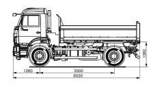 Самосвал KAMAZ-43255-25 (C4)