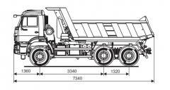 Самосвал KAMAZ-65111-42