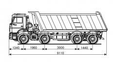 Самосвал KAMAZ-65201-73
