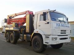 Автогидроподъемник 2784GH на шасси KAMAZ-43114-30 (6х6)