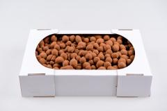 Peanuts in milk chocolate in cocoa powder, ...