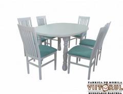 Выдвижной стол 12 человек и стулья Валентина 3 на
